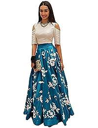 Fantasy Trendz Lehenga Choli Banglorey Silk Febric With Semi-Stitched Blouse Piece.