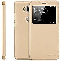 Funda Huawei GX8 (G8) RIO-L01 / RIO-L11 Cover Flip Wallet [Zanasta Designs] Case Cubierta de la ventana de la alta calidad, protección de la cámara | Oro