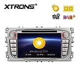 XTRONS 7 pulgadas Android 8.0 Octa Core 4G RAM 32 G ROM coche estéreo HD digital multitáctil pantalla DVD Player OBD2 DVR neumático de vigilancia TPMS para Ford Focus Mondeo C-Max S-Max Galaxy Kuga