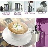 Tenflyer 400mL Appareil ¨¤ Mousse/ Pot Mousse ¨¤ lait / Mousseur de Lait en Acier Inoxydable Cappuccino Caf¨¦ Mousse