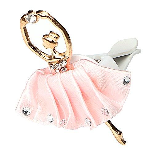 NOPNOG Auto-Lufterfrischer Ballett Girl Ornament Car Air Vent Clip Duftnote Lufterfrischer Pink