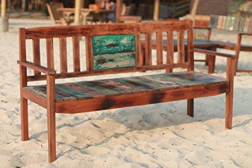 Outflexx 3-Sitzer Gartenbank, Fishboat-Holz, braun, 160 x 60 x 90 cm - 3