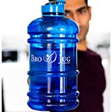 BRO JUG ® - 2.2 litre Water Bottle - BPA free - Extra-strong, drop resistant & leak proof - Perfect for: Car, Gym, Office & Outdoor Sports - Half Gallon