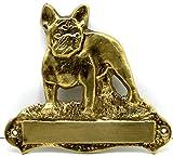 Messing Türschild Englische Bulldogge inkl. Ihrer Wunschgravur