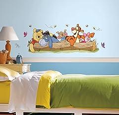 Idea Regalo - RoomMates Disney - Adesivo da Parete di Winnie The Pooh e Amici