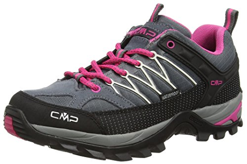 #CMP Rigel 3Q54456 Damen Low Trekking Schuhe WP, grau (grey-fuxia-ice 103Q), 38 EU#