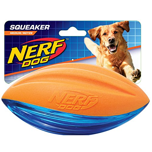 Nerf Dog VP6795E Football TPR/Schaumstoff, orange/blau, 15.2 cm