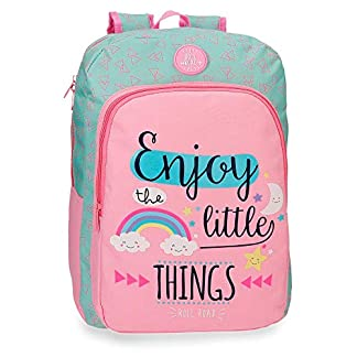Roll Road Little Things – Mochila Escolar, Rosa, 40 cm