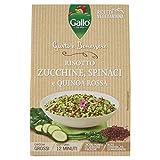 Riso Gallo Risotto Gusto e Benessere Zucchine, Spinaci e Quinoa Rossa - Busta da 175 gr