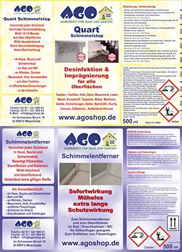 AGO Set Anti-moisissures 4piècesConcentré de Haute qualité pour supprimer Les moisissures dans Votre Maison ou Appartement