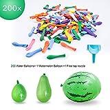 Elegear 201 Stück WasserbombenWasserballons Wasserschlacht Luftballons Latex DIY Bunt mit