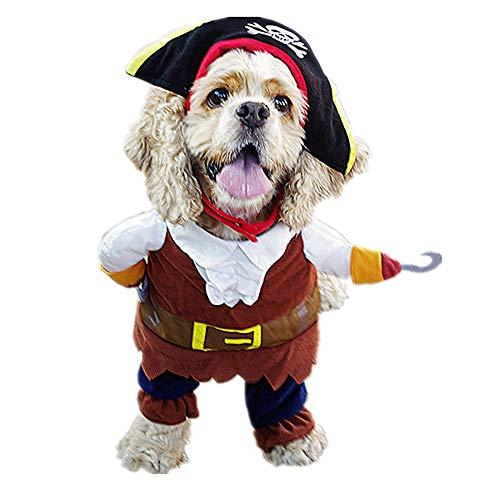 TUOTANG Cosplay Costumi Forniture per Animali Domestici Vestiti da Cane Costume Pirata Trasfigurazione di Guitar Costume Divertente,Color,X-Large
