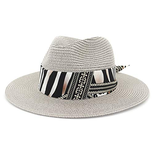 HGYIO Sombrero de Paja de Playa al Aire Libre, Parasol...