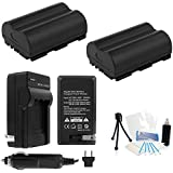 2-Pack BP-511/511a/512 High-Capacity Replacement Batteries With Rapid Travel Charger For Select Canon Cameras. UltraPro Bundle Includes: Camera Cleaning Kit Screen Protector Mini Travel Tripod
