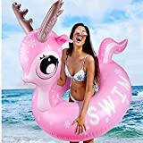 Emooqi Hinchable De Piscina Flotador, Hinchable Colchonetas Piscina,Swimming Pool Float Juguete para Fiestas de Piscina Veraniego Inflable para La Piscina O La Playa Una Fiesta De Verano Juguete