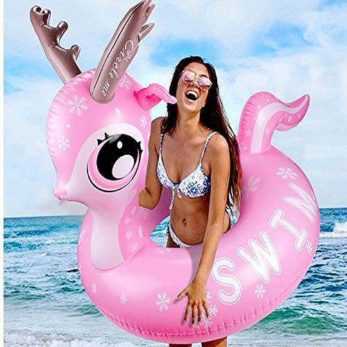 Emooqi gigante salvagente gonfiabile piscina, giocattolo della anello di nuoto spiaggia swim ring pool float giocattolo gonfiabile anello di nuoto dei spiaggia, festa estiva per adolescenti e adulti