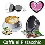 KICKKICK® 50 Capsule Caffè al Pistacchio Compatibili Lavazza A Modo Mio