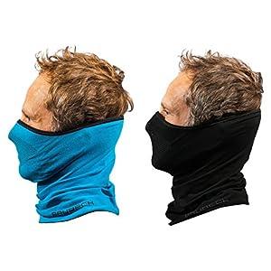Brubeck® X-Pro Halbe Sturmhaube | Klimaregulierend | Gesichtsmaske | Sturmmaske | Funktionskleidung | Atmungsaktiv | Anti-allergisch | Antibakteriell