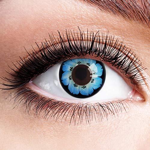 Farbige Kontaktlinsen Blau Ohne Stärke Blaue Crazy Weiche Motiv-Linsen Farbig Halloween Karneval...