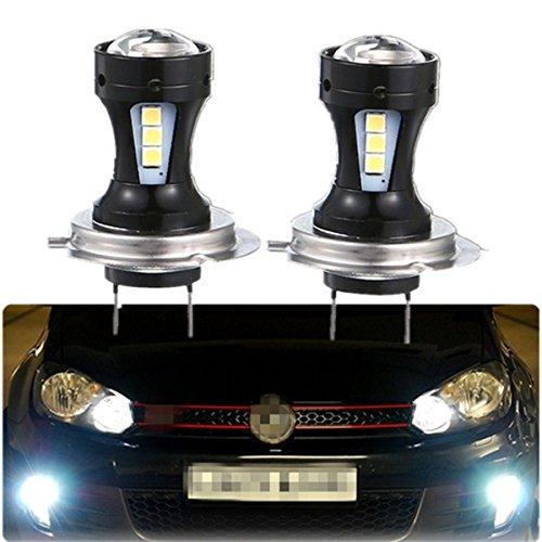 FEZZ 1000LM Extrem helle Auto LED Nebelscheinwerfer DRL Lampe H7 9V-30V DC 18W Weiß 2 Stücke