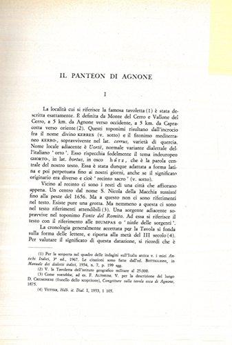 Il Panteon di Agnone.
