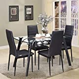 Royaloak Inter Four Seater Dining Table Set (Black)