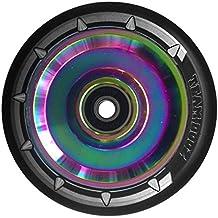 Individual Team Dogz 100mm & 110mm UFO HUECO Núcleo Scooter Rueda ABEC11 También Para MGP Blunt Slamm RAZOR Patata A LA INGLESA arena etc - arco iris con Negro Sintético, 100mm