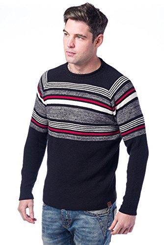Koroshi Herren Langarmshirt Marineblau