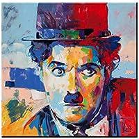 shfxx charlie chaplin bilder abstrakte portrat olgemalde kunstdrucke wand bar home kunst dekor malerei cuadros unframed