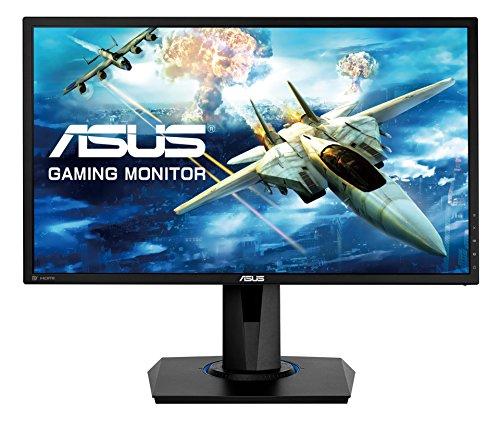 Asus VG245Q 61 cm (24 Zoll) Monitor (Full HD, VGA, HDMI, DisplayPort, 1ms Reaktionszeit, FreeSync) schwarz