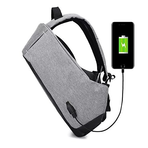 BUCKETLIST® Anti Theft Waterproof Business Travel Laptop Bag with USB Cable and Built in Charging Port for College and Office Work Image 4