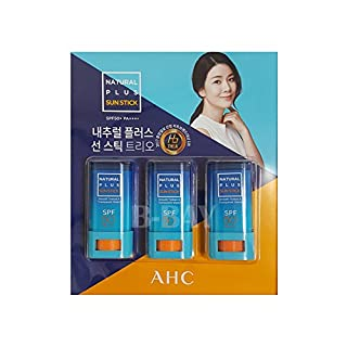 AHC Natur Plus-Sun-Stick Trio SPF50 + Pa ++++ 20G (Packung mit 3)