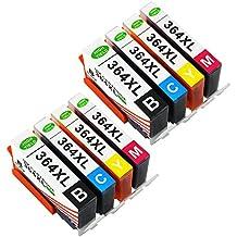 Toner Kingdom 8 Paquete (2 Set) Compatible HP 364XL 364 Cartucho de tinta Compatible para HP Photosmart 5510 5511 5512 5514 5515 5520 5522 5524 6510 6520 6512 6515 7510 7520 7515 B8550 B8558 B110c B010a C5370 C5383 C5388 C6324 C6380 D5460 D7560 C310a C410a B209a B210a HP Deskjet 3070A Impresora