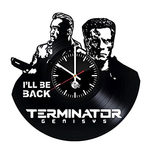 The Terminator Vinyl Record Wall Clock - Get unique kitchen, living room wall décor - Gift ideas for brother, boyfriend, friend – Unique movie art design - Leave us a feedback and win your custom