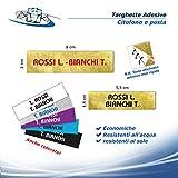 Circuito AUT AUT Etichette adesive per citofono Misura 1,5x5,5 cm o Posta 8x2 cm, targhette in PVC in Diversi Colori Resistenti all'Esterno