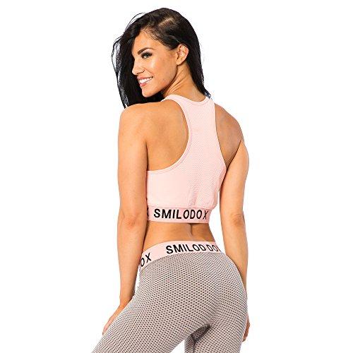 Smilodox Damen Seamless Sport BH Mode, Farbe:Rosa, Größe:S - 5