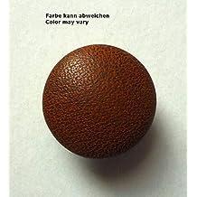 Lederknopf Lederknöpfe 38 mm mittelbraun  Echtleder bezogen