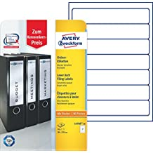 Avery Zweckform L4760-10 Ordner-Etiketten (A4, 70 Stück, blickdicht, 192 x 38 mm) 10 Blatt weiß