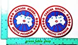 2 Pieces Canada Goose Arctic Program Patch Logo Sew Iron on Embroidered Appliques Badge Sign Costume Send Free Registration by Greenlabel Costume Brand