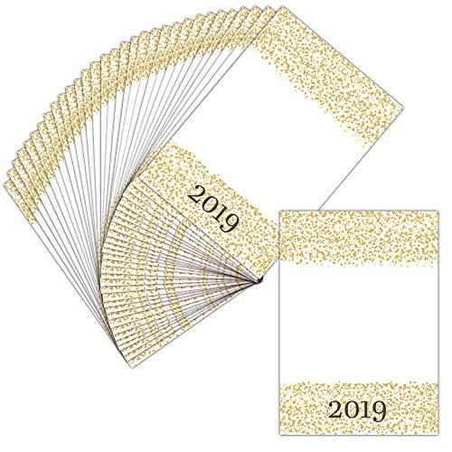 Grußkarte personalisierbar – 32 Karten – Konfetti-Karte, goldfarben, Gutschein – Dispo in 3 Formaten Carte pliée - 14 cm x 19,5 cm