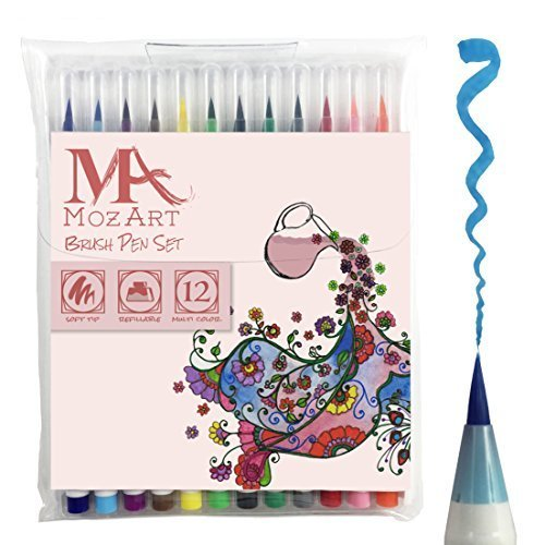 set-penne-con-punta-a-pennello-12-colori-vera-punta-a-pennello-soffice-e-flessibile-alta-qualita-cre