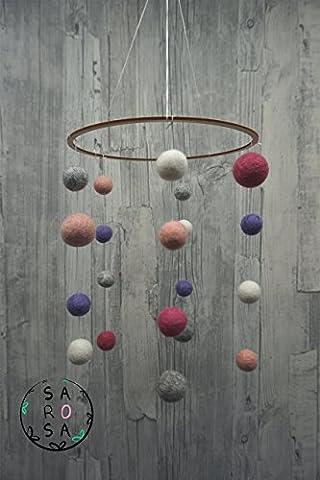 Mobile Filz   Kreis Perle Kugel