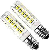 Bomnilla LED E14 Kakanuo 5Watt Equivalente 50W Blanco Fresco 6000K 450LM Campana extractora Non-Regulable AC220-240V 2 Piezas