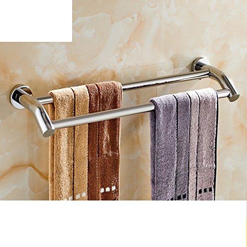 Portasciugamani in acciaio inox/ bagno asciugamano appeso/ bathroom wall e Sapone/ doppia cremagliera di tovagliolo-F