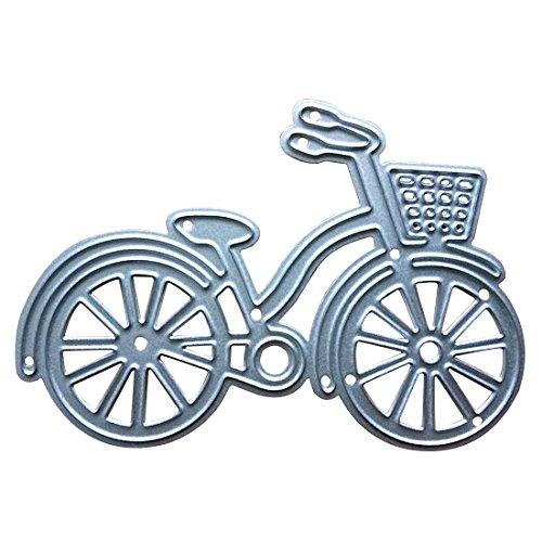 Metallschablone Fahrrad, zum Basteln von Postkarten und für Alben