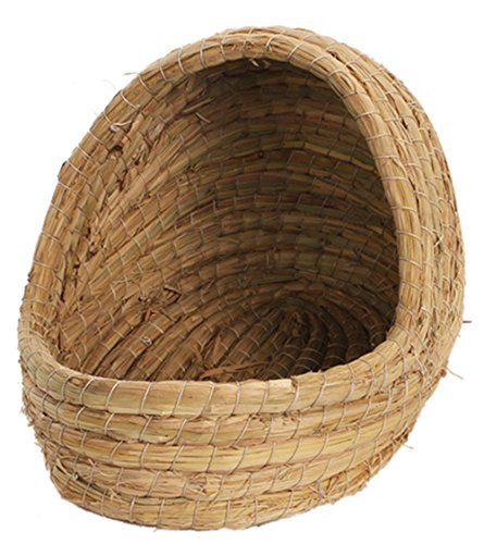 Insun Handgemachte Grashaus Haustiere Stroh Nest für Kaninchen Kleine Tiere 20x19x27cm