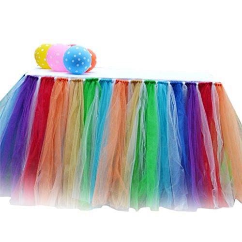 arbtabelle Röcke Tüll Tutu Tabelle Kleid für Hochzeitsfest-Dekoration ()