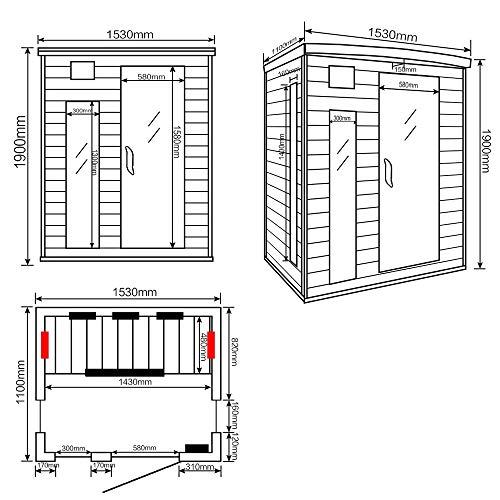 Home Deluxe – Infrarotkabine – Tropical L