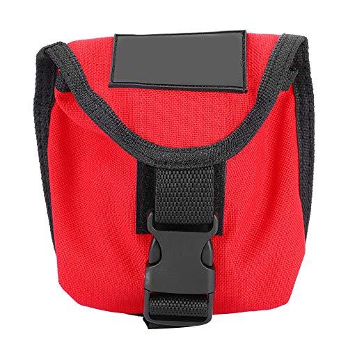 Tauchen Gewicht Tasche Beutel, 2KG Scuba Tauchen Bleigürtel wasserdichte Gewichtstasche Taschen Tauchgürtel Gewicht Gürtel Tasche mit Schnellverschluss(Red)