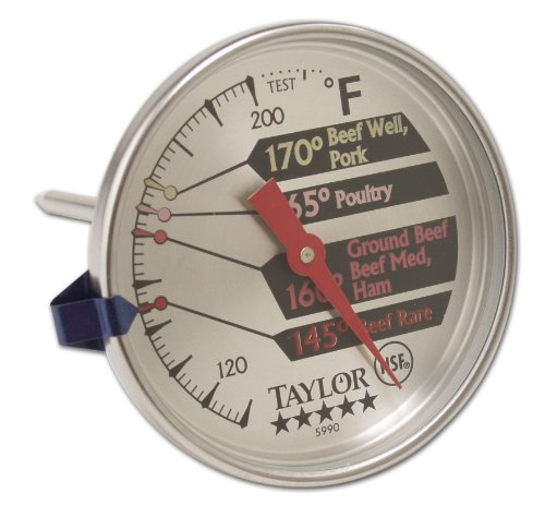 Taylor 5 Star Commercial Meat Thermometer Dial Larg Stainless Steel Dial Face Dial Meat Thermometer